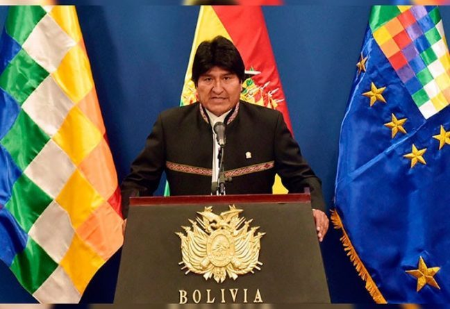 President of Bolivia speaks out against US sanctions to Nicaragua