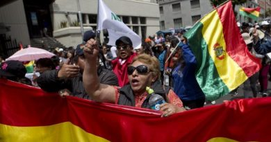Bolivian Opposition Protesters Set Electoral Court on Fire