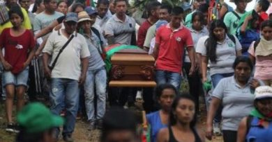 * Four murders of Colombian leaders are reported in 48 hours
