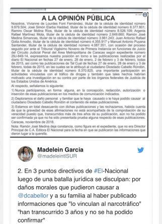 """El Nacional"" Newspaper Recognizes They Lost Defamation Legal Battle Against Diosdado Cabello"