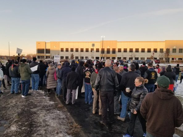 Police break up Amazon workers' protest over oppressive conditions