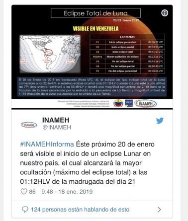 Super Blue Blood Moon in Venezuela: This is the Timing