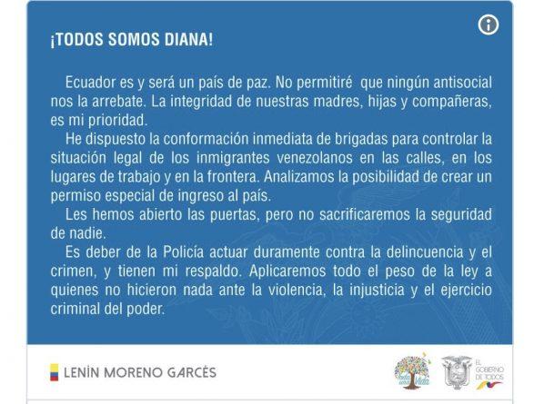 Ecuador: Brutal Femicide Triggers Xenophobic 'Social Cleansing'