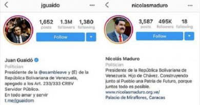 Instagram and Facebook Eliminate Verification to Maduro's Accounts
