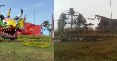 Racism: Monument to Devils of Yare Burned