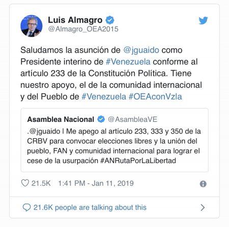 Washington Moves Towards 'Regime Change' in Venezuela