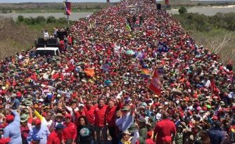 Chavistas led an immense march on the Angostura Bridge of Ciudad Bolívar yesterday (videos+images)