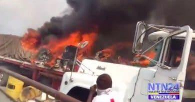 Burning Aid: An Interventionist Deception on Colombia-Venezuela Bridge?