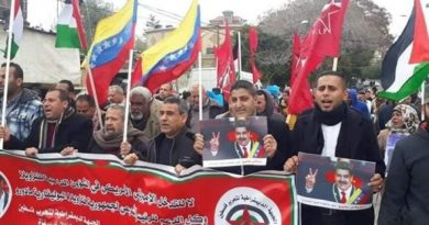 Gaza protesters: Palestine and Venezuela in 'one trench'
