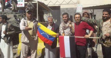 Yemenis protest against US interference in Venezuela