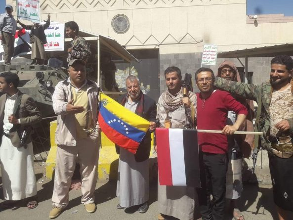 Yemenis protest against US interference in Venezuela
