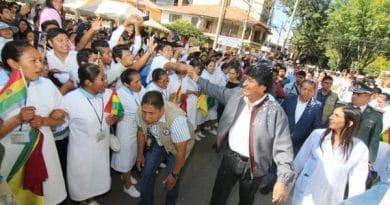Bolivia Inaugurates Free Universal Health Care System