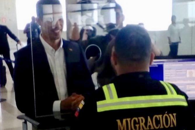 Guiado Enters Venezuela Without Red Carpet and Protocol