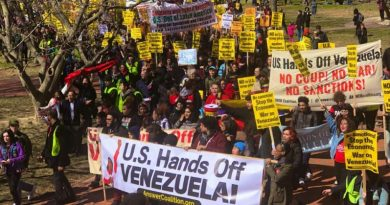 Demands That Trump End Economic War and Attempts at Regime Change at #HandsOffVenezuela March on Capitol Hill