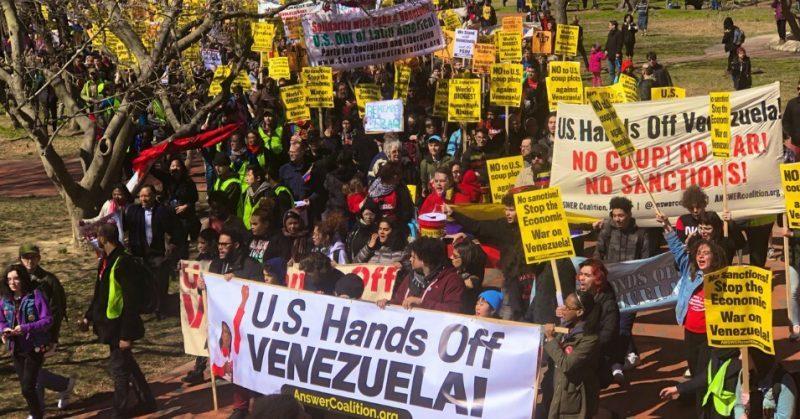 Demands That Trump End Economic War and Attempts at Regime Change at #HandsOffVenezuela March on Capitol Hill