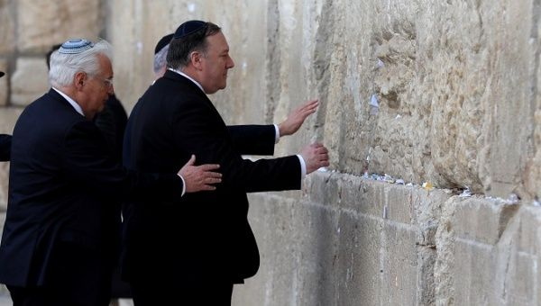 Pompeo Says Trump Sent by God to Save Israel