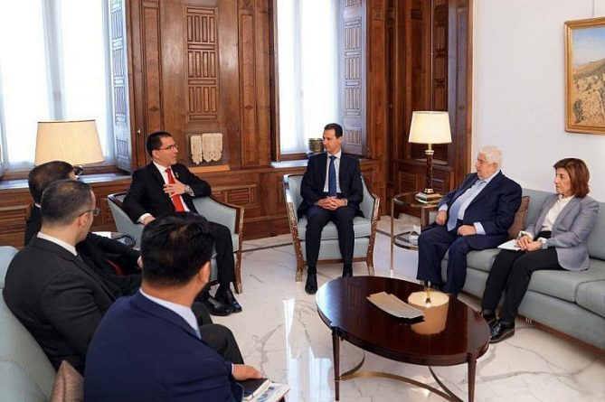 Chancellor Arreaza Meeting With Al-Assad: Syria an Example of Resistance to Imperialism