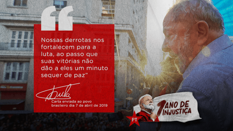 """Lula's Letter After One Year in Prison: """"I am a Political Prisoner Exiled in my Own Country"""""""