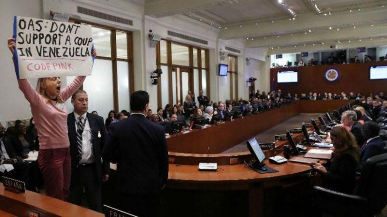 Monroe Doctrine in Practice: OAS Promoting a Coup in Venezuelan