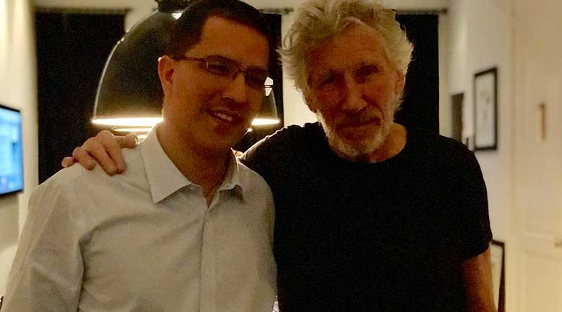Roger Waters Met with Chancellor Arreaza in New York