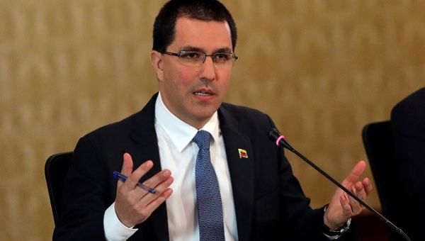 "Venezuela: Arreaza Slams US for ""Criminal"" Blockade"