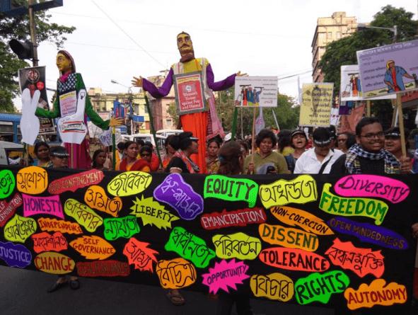 Indian Women March Against Modi Admin's Hate Politics (Images)