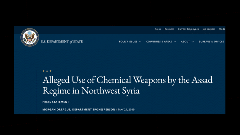 US Accuses Syria Of More Chemical Attacks Just As Chemical Weapons Narrative Crumbles
