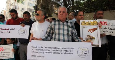 Palestinians Protest German Attack on Right to Boycott Israeli Apartheid