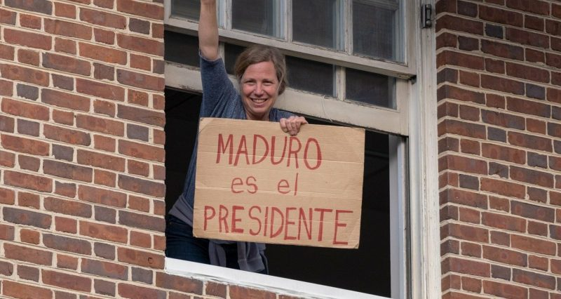 Pro Guaido Supporters Harass Journalists/Anti-war Activists Outside Venezuela's US Embassy in DC (VIDEOS)