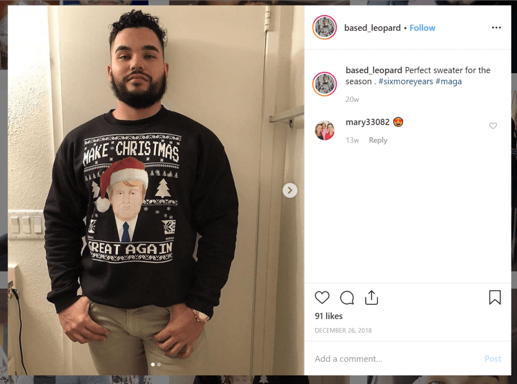 Luis-Medina-Instagram-Trump-sweater.png