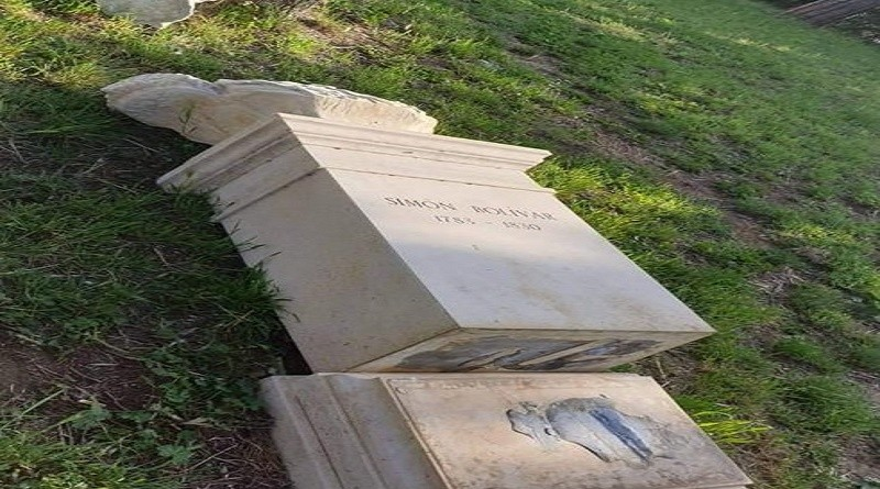 Bolivar's Monument in Rome's Monte Sacro Destroyed