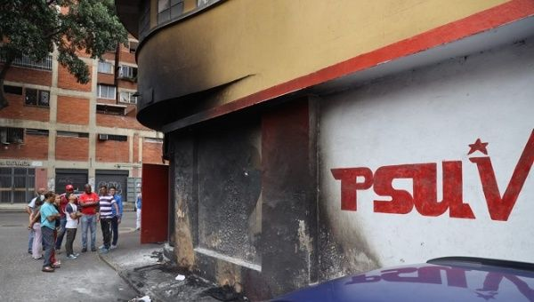 Venezuela: Socialist Party Headquarters Torched, Attacked