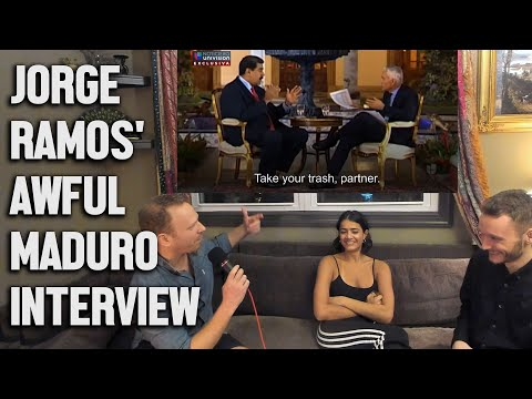 Dissecting Jorge Ramos' Hilariously Bad, Propagandistic Interview with Venezuela's President Maduro