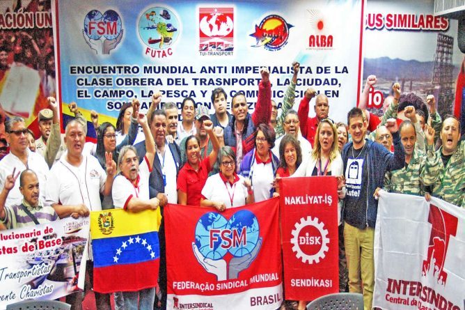 Transport, Fishing and Communication Sector Unions Brought Together more than 26 International Delegations in Caracas (+Declaration)