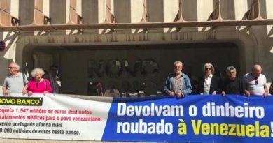 Lisbon: Protest Demanding Novo Banco to Unblock Venezuelan Resources