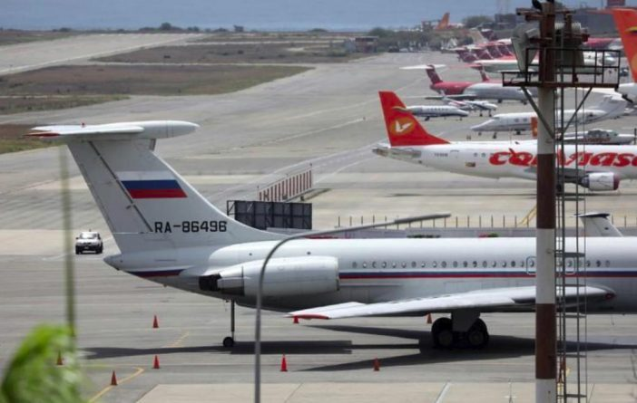 Russian Military Plane IL-62 Flying Back from Caracas to Moscow Today