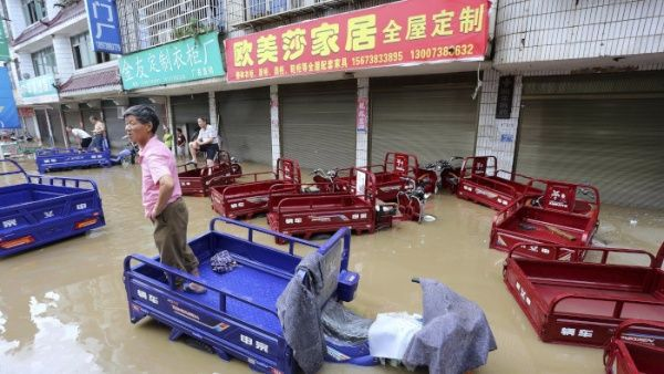 Floods in Eastern China Leave 45 Thousand Evacuees