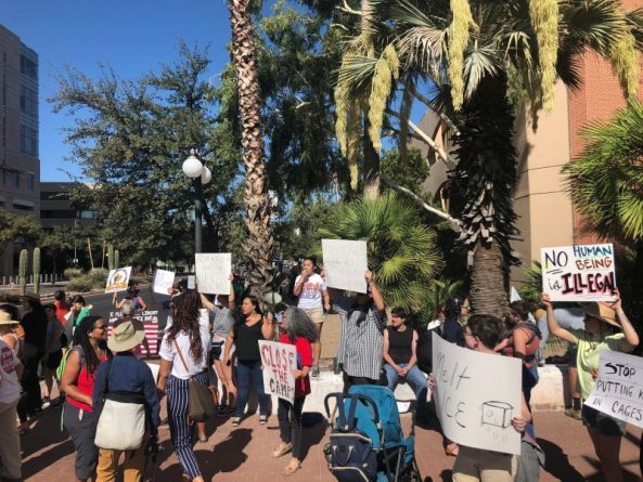 Tucson Protest Tells Trump: No Raids! No Deportations! No Family Separations!