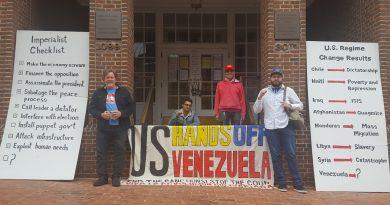 Popular Resistance Expresses Solidarity with Venezuela Against US Blockade