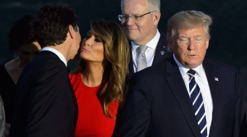 """The """"Sweet"""" Look Between Melania Trump and Justin Trudeau Goes Viral on the Web"""