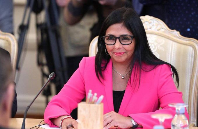 Vice President Delcy Rodriguez in Russia to Strengthen Cooperation Ties