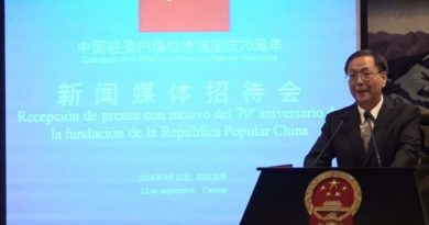China Supports Venezuela's Sovereignty  Against Foreign Intervention