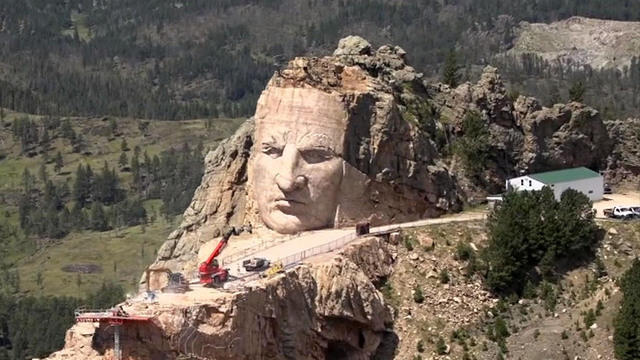 "Monument of Native American Hero ""Crazy Horse"" Slowly Taking Shape in South Dakota"