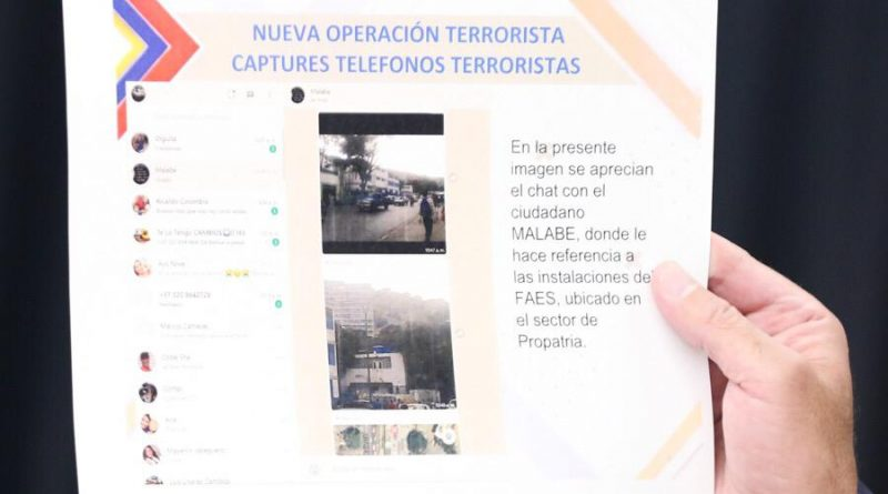 "Venezuela Exposes Failed Plan to Attack Justice Palace, FAES Headquarters and ""23 de Enero"" Projects (Images + Video)"