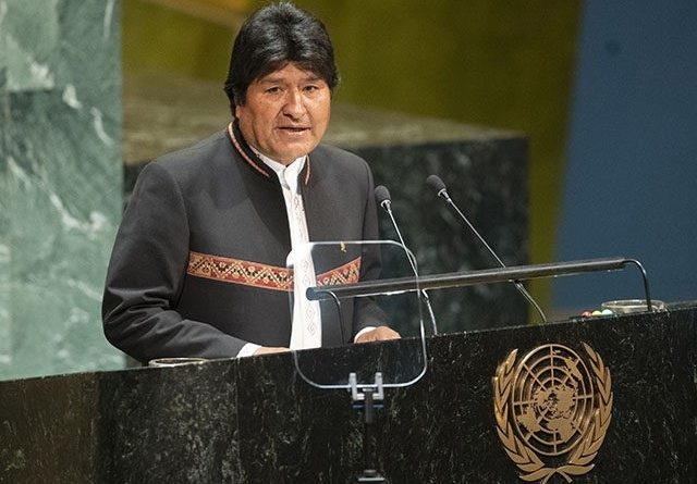 Bolivia President Evo Morales Speech to the United Nations General Assembly, September 24, 2019