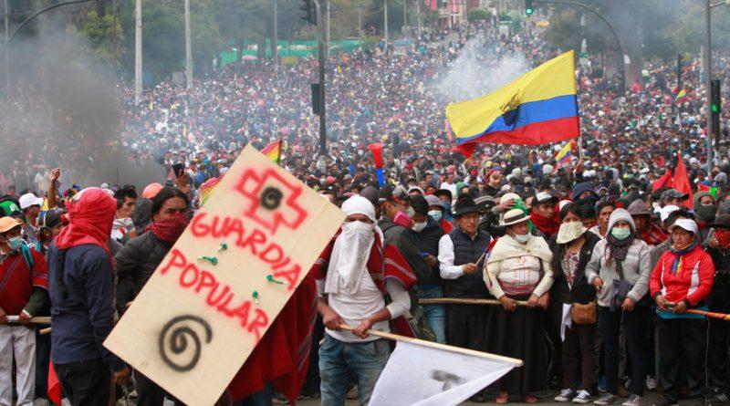 Ecuadorian Protests Intensify as President Flees Capital, Blames Venezuela