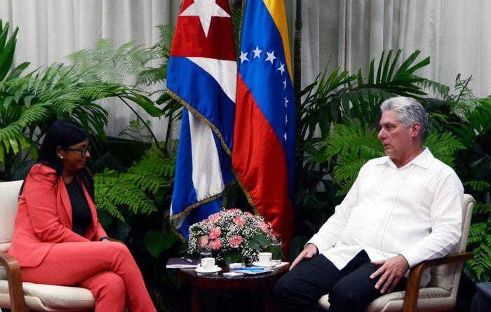 Cuba's Diaz-Canel Welcomes Venezuela's VP Delcy Rodriguez