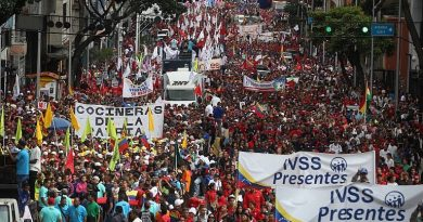 Thousands Marched in Caracas Supporting Bolivia's Evo and Peoples Confronting Neoliberalism