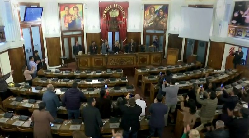 "Bolivia: Jeanine Añez Proclaimed Herself ""Interim President"" in an Almost Empty Parliament"