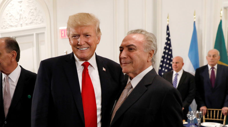 Temer: At Dinner Trump Asked him, Leaders of Colombia and Panama, About Venezuela Intervention